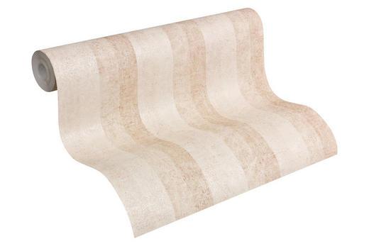 VLIESTAPETE 10,05 m - Hellbraun/Weiß, LIFESTYLE, Textil (53/1005cm)