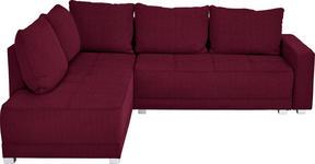 WOHNLANDSCHAFT in Textil Beere - Beere/Silberfarben, Design, Kunststoff/Textil (207/243cm) - Xora