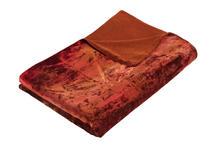 WOHNDECKE 140/200 cm Rot, Terra cotta  - Rot/Terra cotta, KONVENTIONELL, Textil (140/200cm) - Novel