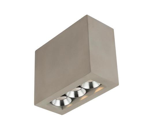 LED-DECKENLEUCHTE - Grau, Design, Stein/Metall (12,2/5,6/10cm)