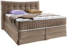 Boxspringbett Domino 200/220cm, Zimt - Braun, KONVENTIONELL, Holz (200/220cm) - James Wood