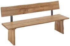 SITZBANK in Holz, Metall Eichefarben - Eichefarben, Natur, Holz/Metall (180/87/46cm) - Linea Natura