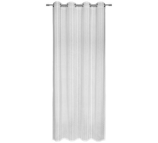 ÖSENVORHANG halbtransparent  - Weiß, Design, Textil (135/245cm) - Esposa