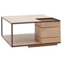 Couchtisch in Braun, Eichefarben - Eichefarben/Braun, Design, Holz/Metall (80/80/40cm) - Voglauer