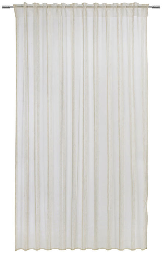 FERTIGVORHANG  transparent  135/245 cm - Naturfarben, KONVENTIONELL, Textil (135/245cm) - Esposa