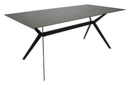 MATBORD - svart/grå, Design, metall/glas (180/90/75cm) - Hom`in