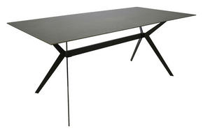 MATBORD - grå/svart, Design, metall/glas (180/90/75cm) - Hom`in