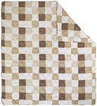 Tagesdecke Alina 220x240 cm - Beige/Weiß, ROMANTIK / LANDHAUS, Textil (220/240cm) - James Wood