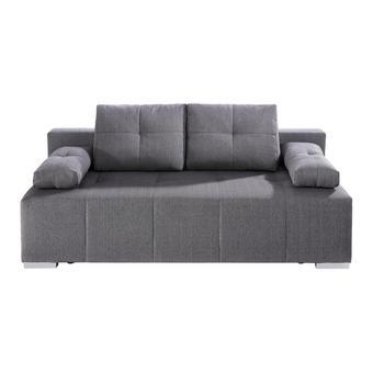 SCHLAFSOFA Webstoff Anthrazit - Chromfarben/Dunkelgrau, Design, Kunststoff/Textil (200/70-94/100cm) - Carryhome