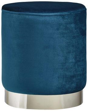 PALL - petrol/kromfärg, Trend, metall/träbaserade material (35/40cm) - Xora