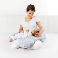 Stillkissen 160 cm - Weiß/Grau, Basics, Textil (160cm) - My Baby Lou