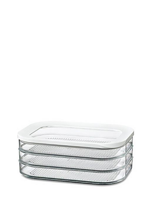 VORRATSDOSE 1,65 L - Transparent/Weiß, Basics, Kunststoff (1.65l) - Mepal Rosti