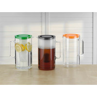 Glaskrug 2,5 l - Transparent/Schwarz, Basics, Glas/Kunststoff (17,6/25,2cm) - Bohemia