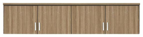 AUFSATZSCHRANK in Eichefarben  - Eichefarben/Silberfarben, Basics, Holzwerkstoff/Kunststoff (181/39/54cm) - Carryhome