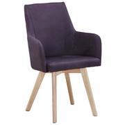 Stuhl in Holz, Textil Dunkelgrau, Naturfarben - Dunkelgrau/Naturfarben, Design, Holz/Textil (56/92/56cm) - Carryhome