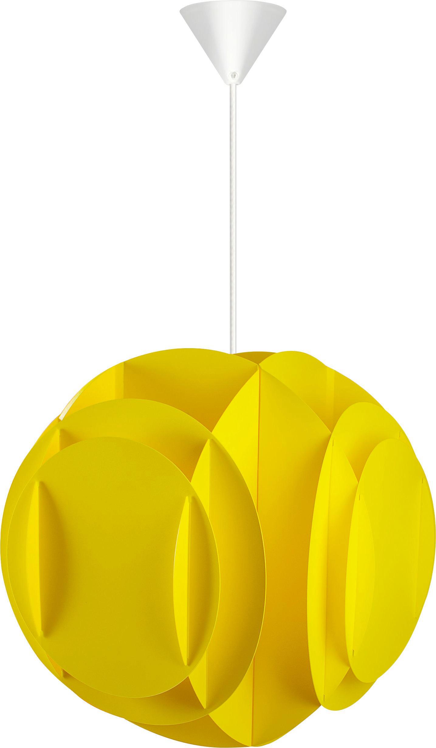 SVÍTIDLO ZÁVĚSNÉ - žlutá, Moderní, textil/umělá hmota (36/216cm) - BOXXX