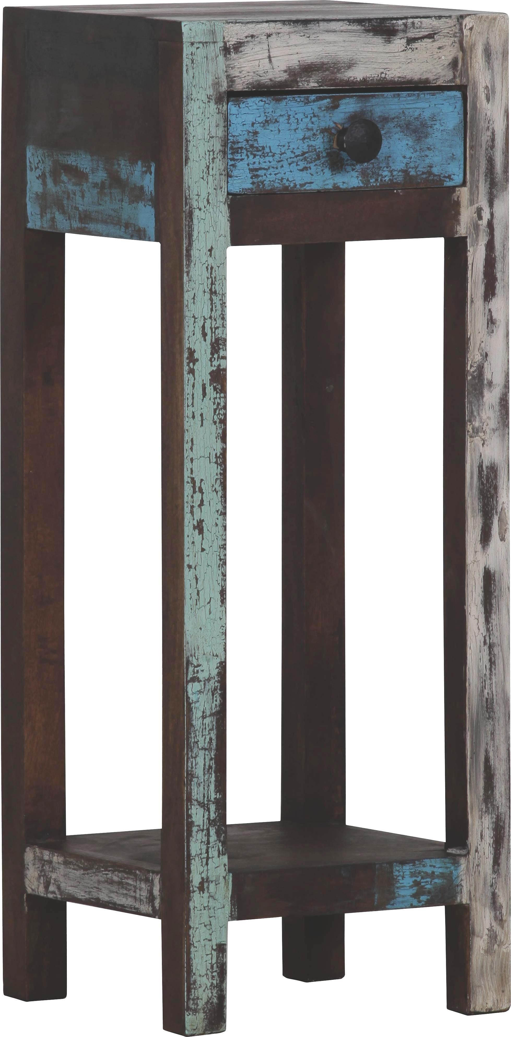 BEISTELLTISCH Mangoholz massiv Multicolor - Multicolor, MODERN, Holz (30/80/30cm) - LANDSCAPE