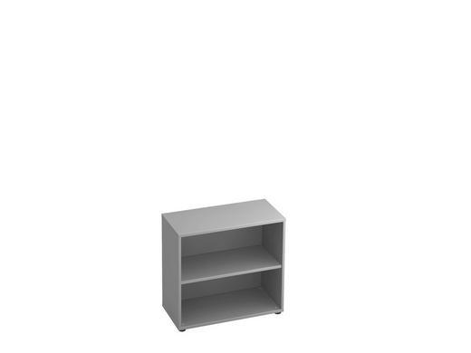 REGAL in Grau - Schwarz/Grau, KONVENTIONELL, Holzwerkstoff/Kunststoff (80/74,8/40cm)