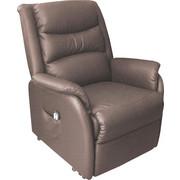 TV-FOTELJ  rjava les, tekstil, usnje - črna/rjava, Konvencionalno, umetna masa/tekstil (82/93-165/103-105cm) - Cantus