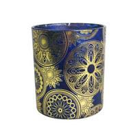 SVÍCEN NA ČAJOVOU SVÍČKU - modrá/barvy zlata, Lifestyle, sklo (9/10cm) - Ambia Home