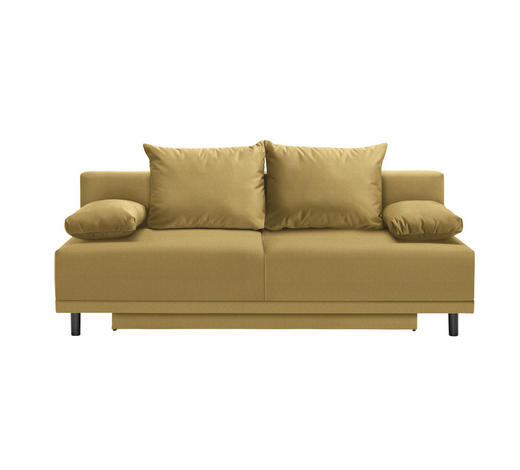 SCHLAFSOFA in Textil Gelb - Gelb/Schwarz, Design, Kunststoff/Textil (200/91/95cm) - Ti`me