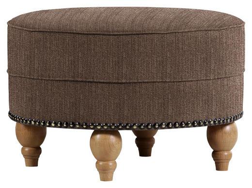 HOCKER in Textil Dunkelbraun - Eichefarben/Dunkelbraun, Design, Holz/Textil (77/43cm) - Carryhome