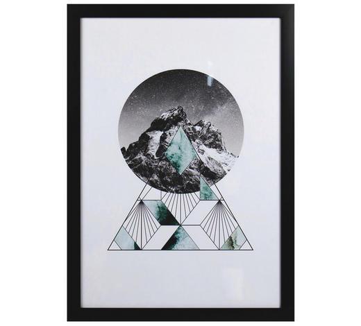 Kunstdruck - Schwarz/Weiß, Trend, Holzwerkstoff/Kunststoff (50/70cm) - Monee