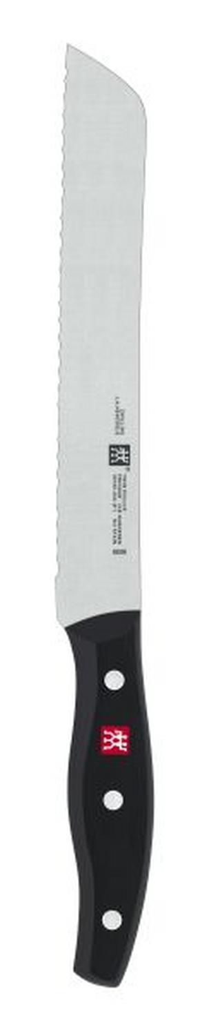 BRÖDKNIV - svart/rostfritt stål-färgad, Klassisk, metall/plast (20cm) - Zwilling
