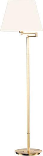 STEHLEUCHTE - Champagner, KONVENTIONELL, Textil/Metall (156cm)