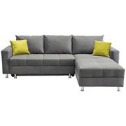 WOHNLANDSCHAFT - Chromfarben/Weiß, Design, Kunststoff/Textil (259/164cm) - Xora