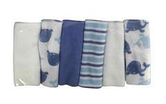 Waschtuchset 6-teilig   - Blau, Basics, Textil (22/22cm) - My Baby Lou