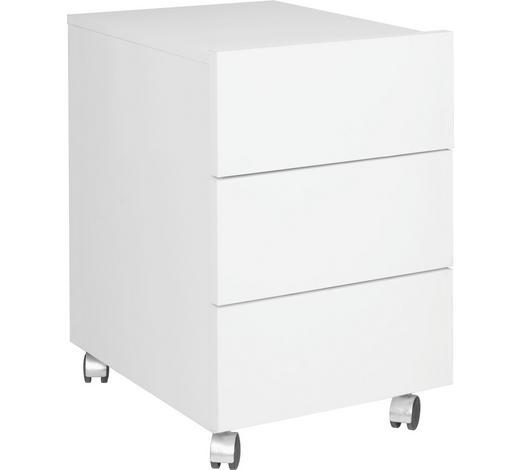 POJÍZDNÝ KONTEJNER, bílá - bílá, Design, kompozitní dřevo/umělá hmota (42/64/53cm)