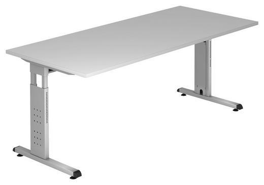 SCHREIBTISCH Grau - Silberfarben/Grau, KONVENTIONELL, Metall (180/65-85/80cm)