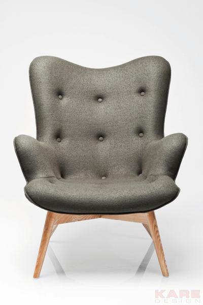 SESSEL Dunkelgrün - Dunkelgrün/Eschefarben, Design, Holz/Textil (79/93/99cm) - Kare-Design