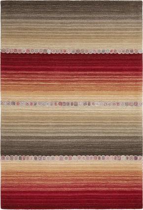 ORIENTALISK MATTA - röd/grå, Klassisk, ytterligare naturmaterial (60/90cm) - Esposa
