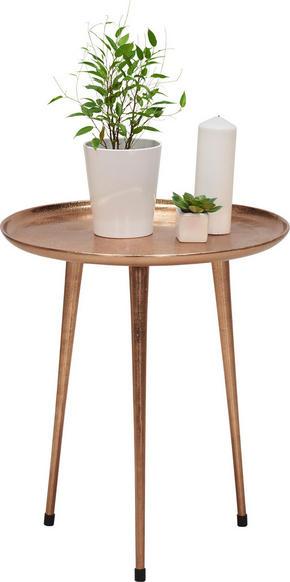 BEISTELLTISCH - kopparfärgad, Design, metall (50/56cm) - Xora