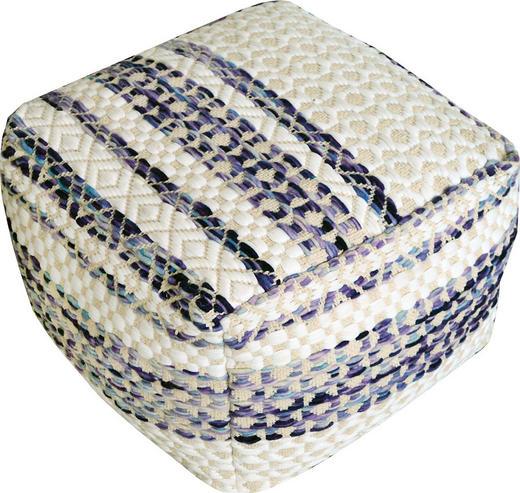 SITZWÜRFEL Webstoff Beige, Blau, Weiß - Blau/Beige, Design, Textil (50/35/50cm) - Carryhome