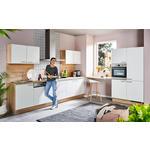 ECKKÜCHE E-Geräte, Spüle, Nischenrückwand   - Weiß/Sonoma Eiche, Design (175/275cm) - Xora