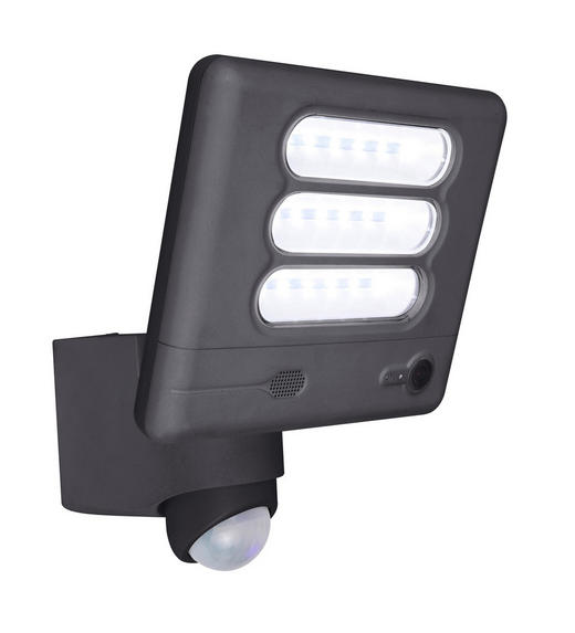 LED-AUßENLEUCHTE - Anthrazit, Basics, Kunststoff/Metall (20/20/18cm)