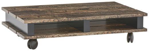 COUCHTISCH rechteckig Braun, Schwarz - Schwarz/Braun, Design, Kunststoff (100/67/24cm) - Carryhome