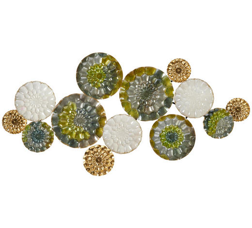 WANDDEKO - Multicolor, Trend, Metall (98/6,5/47cm) - Ambia Home