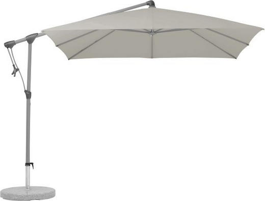 AMPELSCHIRM 260 x 260 cm Taupe - Taupe/Graphitfarben, Design, Textil/Metall (260/260cm) - GLATZ