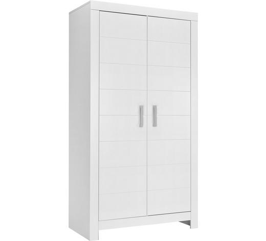 KLEIDERSCHRANK in Weiß  - Chromfarben/Weiß, KONVENTIONELL, Holzwerkstoff/Metall (110/205,2/55,3cm) - Paidi