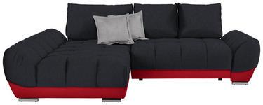 WOHNLANDSCHAFT in Textil Anthrazit, Rot, Hellgrau  - Anthrazit/Rot, MODERN, Textil/Metall (192/290cm) - Carryhome