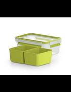 POSODA ZA MALICO - zelena/prozorna, Basics, umetna masa (16,3/11,7/5,8cm) - Tefal