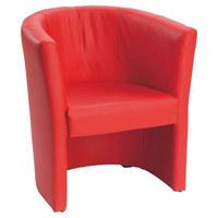 SESSEL in Rot Textil - Rot/Schwarz, Design, Kunststoff/Textil (54/72/63cm) - Carryhome