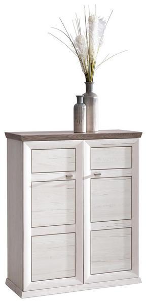 SKOSKÅP - vit/nickelfärgad, Lifestyle, metall/träbaserade material (90,2/108,5/38,5cm) - Hom`in