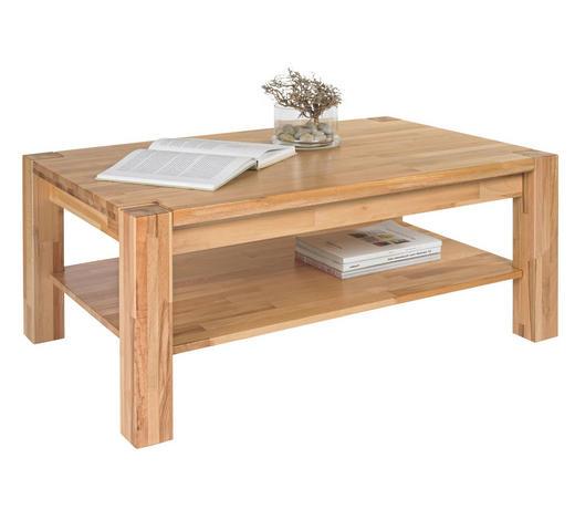 COUCHTISCH in Holz 110/70/45 cm - Buchefarben, Design, Holz/Kunststoff (110/70/45cm) - Linea Natura