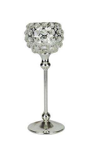 LJUSSTAKE - silver, Basics, metall/glas (10/30cm) - Ambia Home