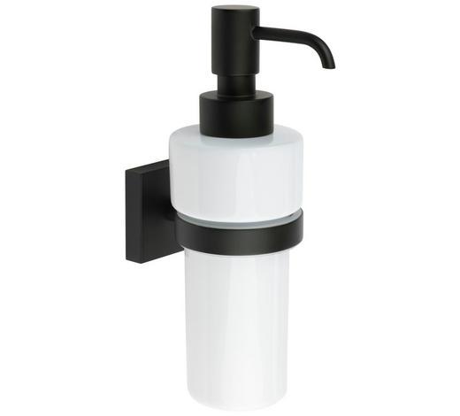SEIFENSPENDER Metall, Keramik - Schwarz/Weiß, Basics, Keramik/Metall (6/18/8,4cm)